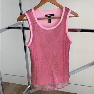 DKNY pink tank top